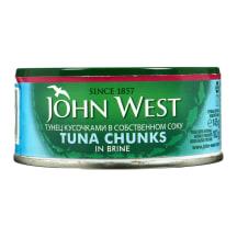 Tunų gabaliukai savo sultyse JOHN WEST, 145g