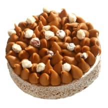 Tortas su lazdyno riešutais ir karamele, 1kg