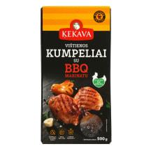 Viščiukų broilerių kumpeliai BBQ, 500g