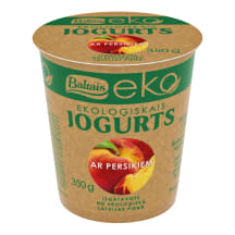 Jogurts Baltais ar persikiem EKO 350g