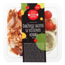 Daržovių salotos su vištienos kebabu, 300g