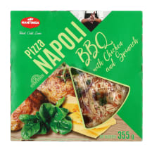 Pica NAPOLI BBQ su vištiena ir špinatais,355g
