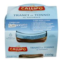 Gelsvauodegis tunas savo sultyse CALLIPO,160g