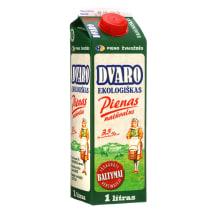 Ekologiškas pienas DVARO, < 3,5 %, 1 l