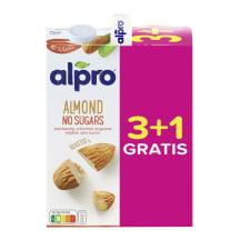 Mandeļu dzēriens Alpro nesaldināts 4x1l