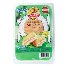 Šnicele cāļa gaļas ar sieru un šķ. 230g