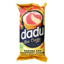 Bananų - braškių šerbetas DADU, 120 ml