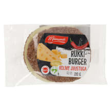 Rukkiburger kolme juustuga 220g