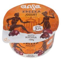 Kreeka jogurt musta kirsi Aasa 150g