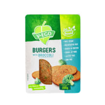 Vegānu burgeri V-ego ar brokoļiem 200g