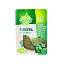 Vegānu burgeri V-ego ar spinātiem 200g