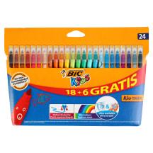 Viltpliiat.BIC Kids Colour 18+6tk AW21