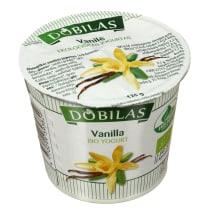 Ekol. jogurtas DOBILAS su van., 6,5-9,0%,125g
