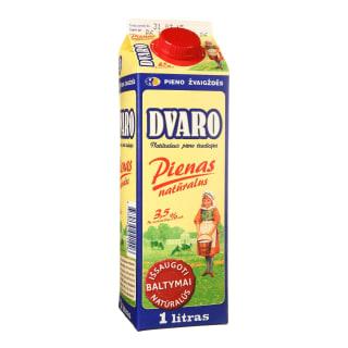 Pienas DVARO, 3,5 % rieb., 1 l