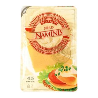 Pjaustytas fermentinis sūris ROKIŠKIO NAMINIS, 45 % rieb., 150 g