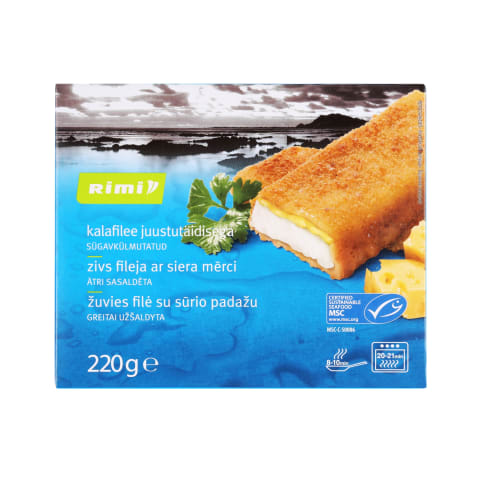 Žuvies filė su sūriu RIMI, 220 g