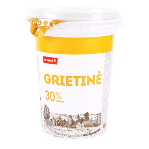 Grietinė RIMI, 30 % rieb., 400 g