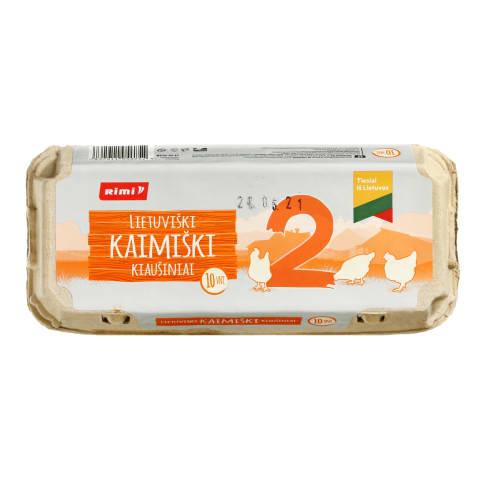 KAIMIŠKI kiaušiniai RIMI, M dydis, 1 pak. (10 vnt.)