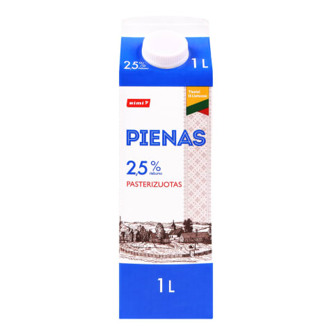 Pienas RIMI, 2,5 % rieb., 1 l
