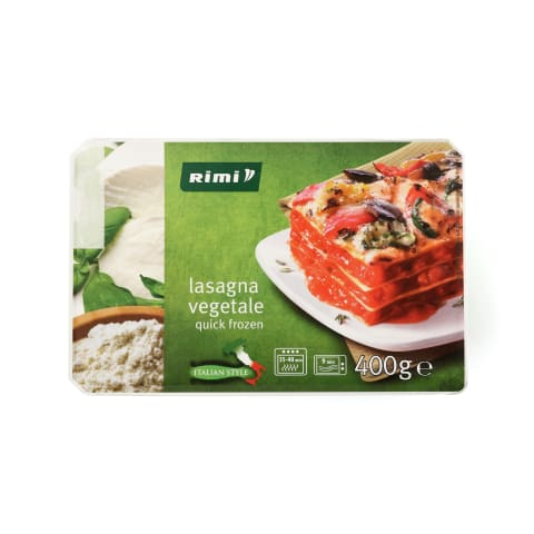 Vegetariška lazanija RIMI, 400 g