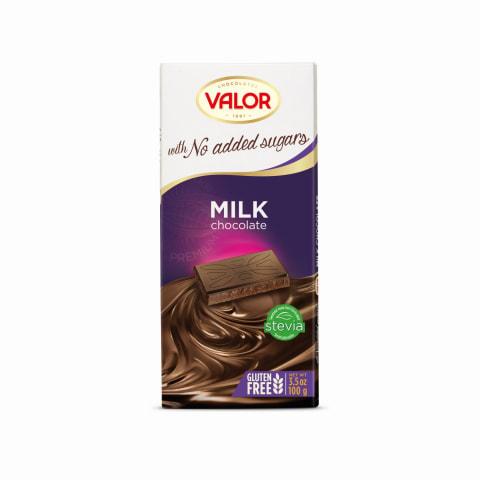 Pieniškas šokoladas su saldikliu VALOR, 100 g