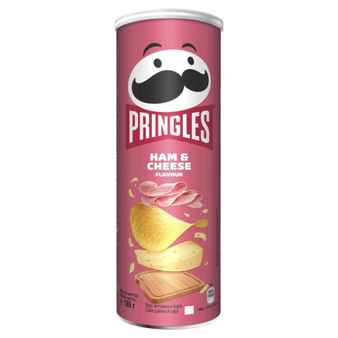 Čipsi Pringles ar šķiņķa un siera garšu 165g
