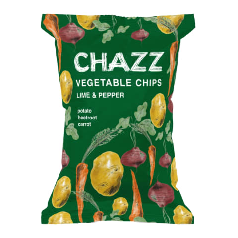 Čipsi Chazz dārzeņu ar laima,piparu garšu 75g