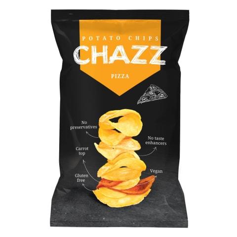 Kartupeļu čipsi Chazz burkānu picas garša 90g