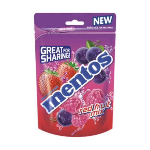 Košļājamās konfektes Mentos Berry Mix 160g