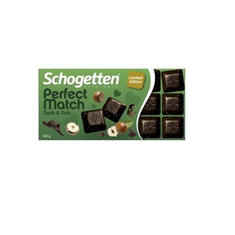 Šokolāde Schogetten Dark & Nuts 100g