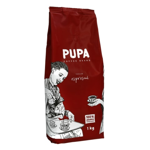 Kavos pupelės PUPA TOBULAM ESPRESUI, 1 kg