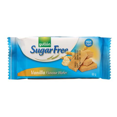 Vanilės sk., vafliai GULLON DIET NATURE, 60 g