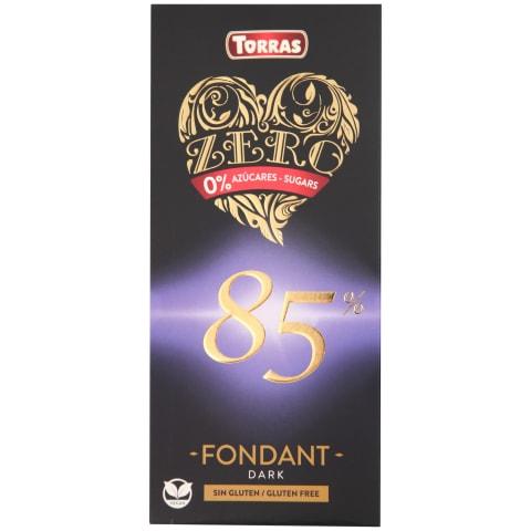 Rūgtā šokolāde Torras Zero 85% kakao b/g 100g