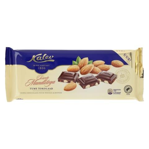 Tume šokolaad tervete mandlitega Kalev 200g