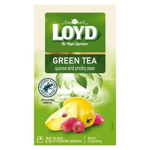 Zaļā tēja Loyd ar cidoniju/opunciju 20x1,7g