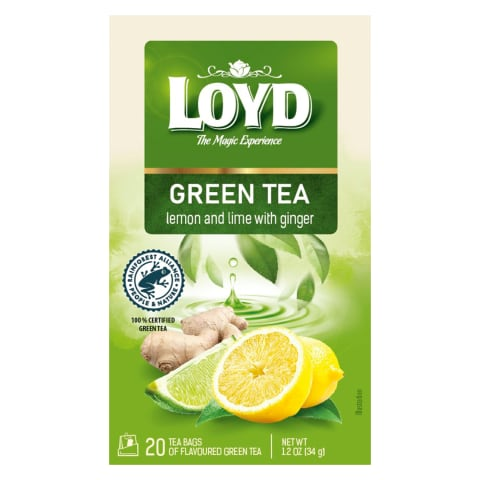 Zaļā tēja Loyd ar citronu un laima g. 20x1,7g