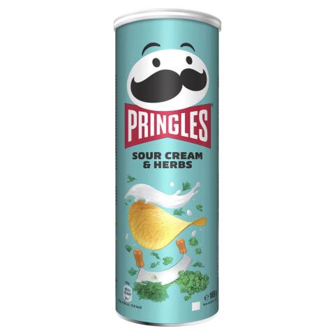 Čipsi Pringles ar skābo krējumu-zaļumiem 165g