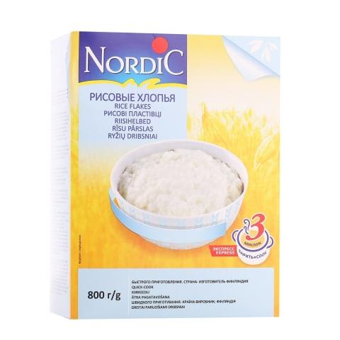 Ryžių dribsniai NORDIC, 800 g