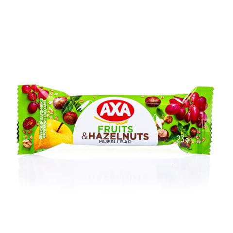 Aviž. batonėlis su vaisiais ir rieš. AXA, 23g