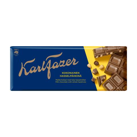 Piena šokolāde Fazer ar lazdu riekstiem 200g