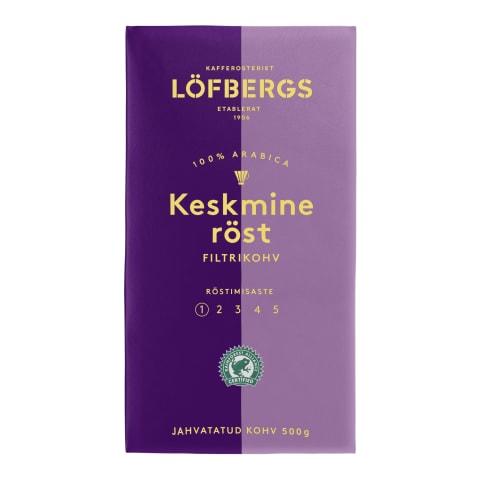Kohv jahvatatud keskmine röst Lofbergs 500g