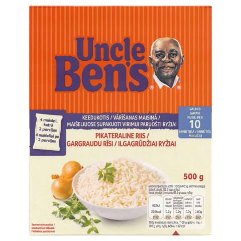 Rīsi Uncle Ben's maisiņos 4x125g