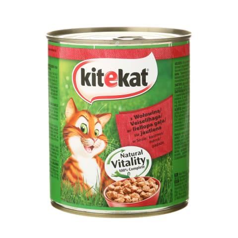 Kaķu barība Kitekat ar liellopu gaļu 800g