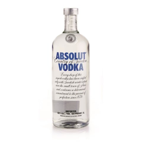 Degvīns Absolut Vodka 40% 1l
