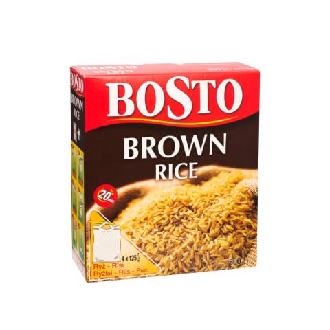 Pruun riis Bosto 4x125g