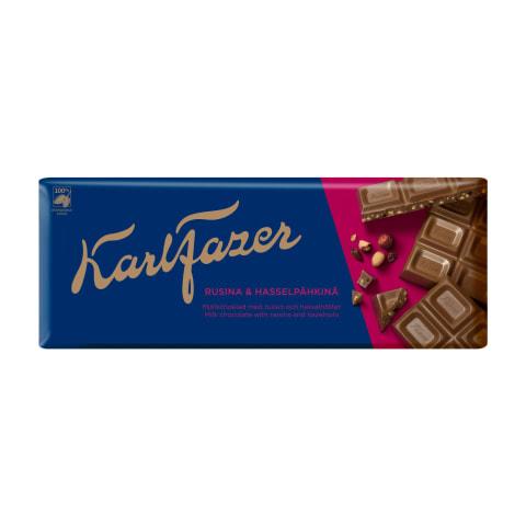 Piena šokolāde Karl Fazer riekstu rozīņu 200g