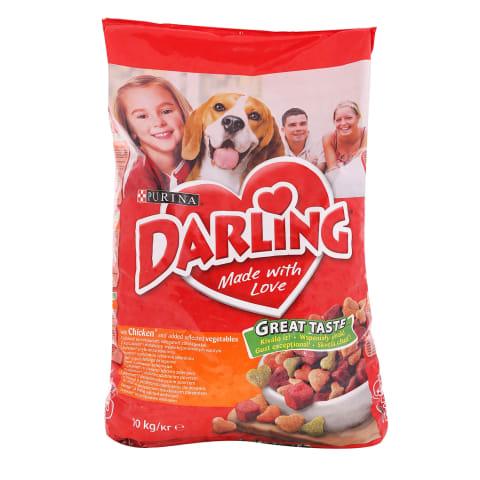 Sausas šunų ėd.su paukšt.,darž. DARLING,10kg