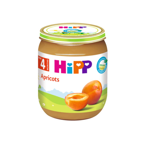 Ekologiška abrikosų tyrelė HIPP, 4mėn., 125g