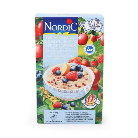 Biezputra Nordic ābolu melleņu aveņu 6x35g