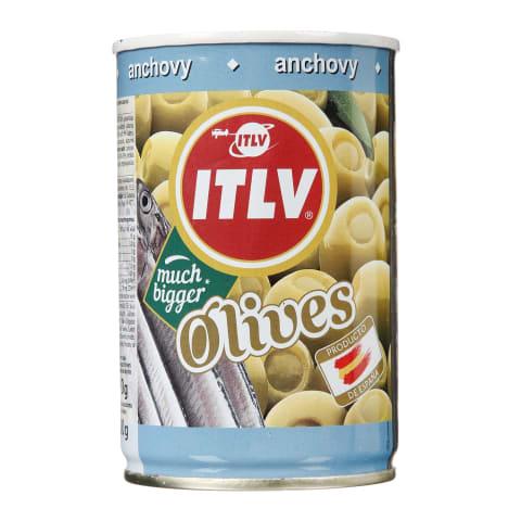 Zaļās olīvas ITLV ar anšoviem 314ml